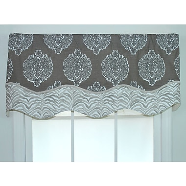 RLF Home Luanda Glory 52'' Curtain Valance; Bisque