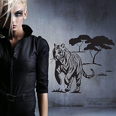 Style and Apply Wild Tiger Wall Decal; Dark Green
