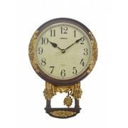Three Star Wall Clock w/ Pendulum