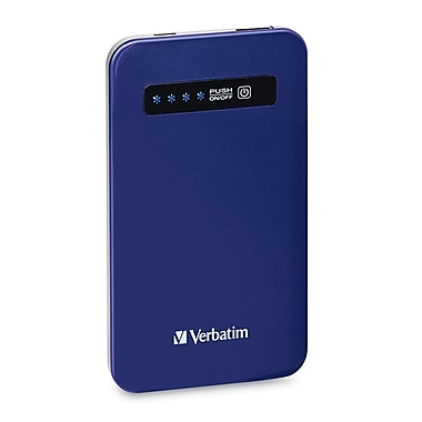 Verbatim Ultra-Slim Battery Power Pack, 4200mAh, Cobalt Blue