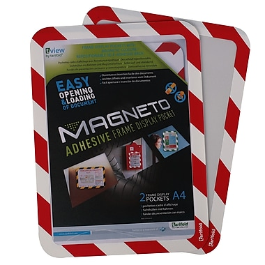 Tarifold Magneto Safety Frame, Self-Adhesive Backing with Borders, 2/Pack