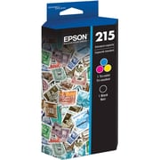 Epson 215, Black and Tri-Color Ink Cartridges, 2-Pack (T215120-BCS)