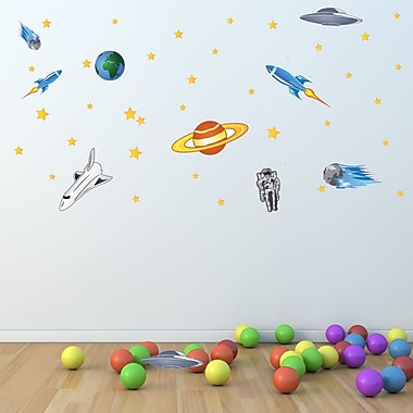 Style and Apply Colorful Space Wall Decal
