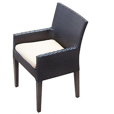 TK Classics Napa Patio Dining Chair w/ Cushion (Set of 2); Beige
