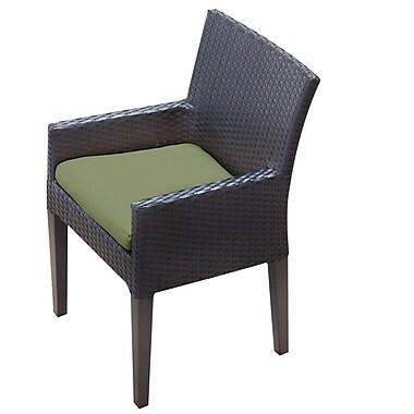TK Classics Napa Patio Dining Chair w/ Cushion (Set of 2); Cilantro