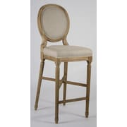 Zentique Medallion 29.5'' Bar Stool; Natural