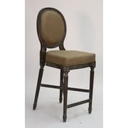 Zentique Medallion 25'' Bar Stool; Copper