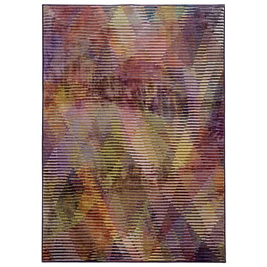 Pantone Universe Prismatic Abstract Purple & Gold Area Rug; Rectangle 3'5'' x 5'5''