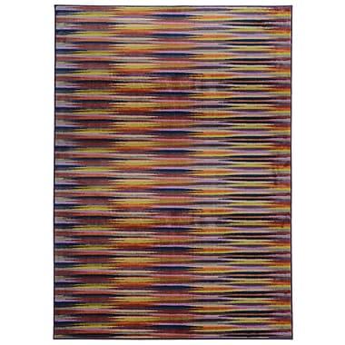 Pantone Universe Prismatic Abstract Gold & Orange Area Rug; Rectangle 5'3'' x 7'6''