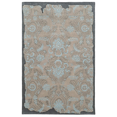 Pantone Universe Color Influence Distressed Look Grey / Blue Area Rug; 3'6'' x 5'6''