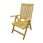 D-Art Collection Folding Patio Dining Chair