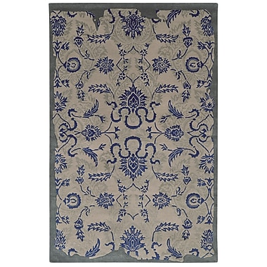 Pantone Universe Color Influence Distressed Look Grey / Blue Area Rug; Runner 2'6'' x 8'