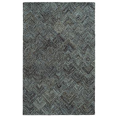 Pantone Universe Colorscape Geometric Charcoal & Blue Area Rug; 5' x 8'