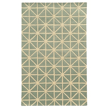 Pantone Universe Optic Grey/Ivory Geometric Area Rug; 3'6'' x 5'6''