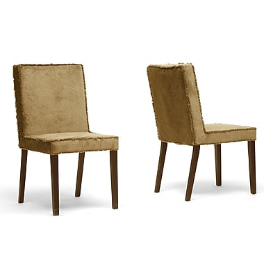 Wholesale Interiors Baxton Studio Cuba Side Chair (Set of 2); Brown