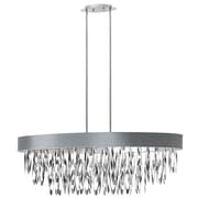 Radionic Hi Tech Allegro 8-Light Drum Pendant; Silver