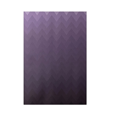 E By Design Chevron Purple Indoor/Outdoor Area Rug; Rectangle 3' x 5'