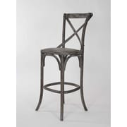 Zentique Inc. Parisienne Cafe 30.25'' Bar Stool; Limed Charcoal Oak