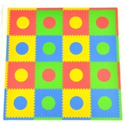 Tadpoles Circles 16 Piece Playmat Set; Multi/Primary