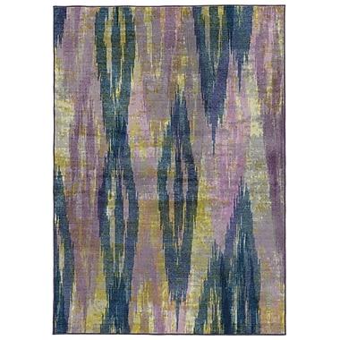 Pantone Universe Prismatic Abstract Purple/Blue Area Rug; Rectangle 7'10'' x 10'10''