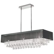 Radionic Hi Tech Jacqueline 10-Light Kitchen Island Pendant; Black