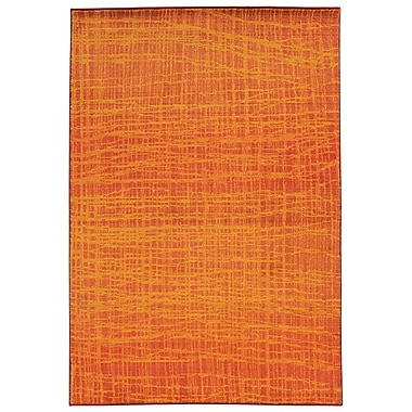 Pantone Universe Expressions Abstract Orange Area Rug; Rectangle 7'10'' x 10'10''