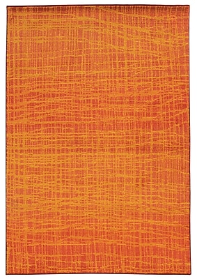 Pantone Universe Expressions Abstract Orange Area Rug; Rectangle 4' x 5'9''