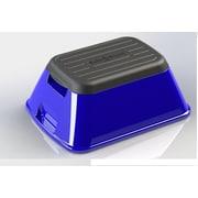 Ennovea Life 1-Step Plastic Anti-Tip Safe-T Step Stool w/ 375 lb. Load Capacity; Blue