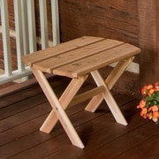 A&L Furniture Folding End Table; Cedar
