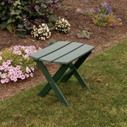 A&L Furniture Folding End Table; Turf Green