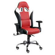 Pit Stop Furniture Racing Style Executive Chair; Red