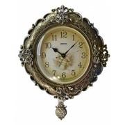 Three Star Floral Wall Clock w/ Pendulum