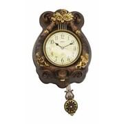 Three Star Wall Clock w/ Pendulum and Angels