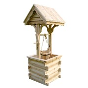 Shine Company Inc. Lawn Accent Wishing Well; Natural
