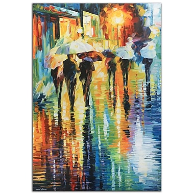 Metal Art Studio Rainy Etude by Leonid Afremov Painting Print Plaque