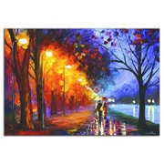 Metal Art Studio  Alley by the Lake  by Leonid Afremov Painting Print Plaque