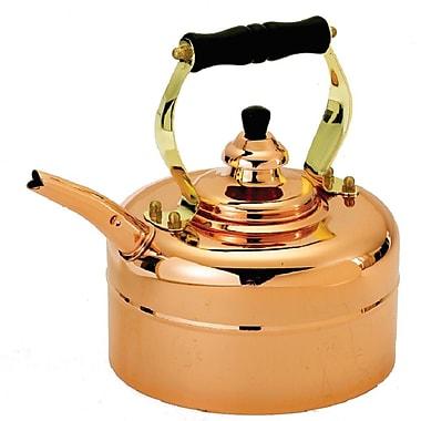 Old Dutch Copper 3 Qt. Tri Ply Windsor Whistling Tea Kettle