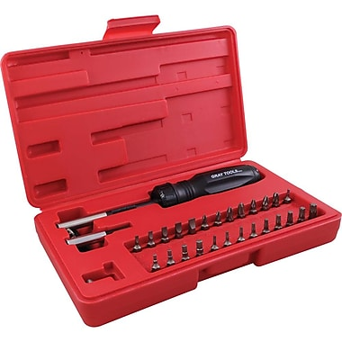 Gray Tools 32 Piece Gearless Screwdriver Set, In Plastic Storage Case