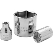 Gray Tools 6mm-26mm 6 Point Standard Length, Chrome Finish Sockets