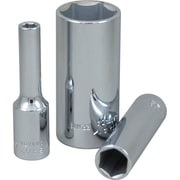 Gray Tools 6mm-23mm 6 Point Deep Length, Chrome Finish Sockets