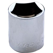 "Gray Tools 1/2"" Drive 5 Sided Penta Socket, Chrome Finish"
