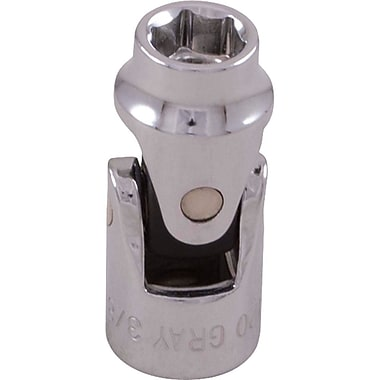 Gray Tools 6 Point Standard Length, Universal Joint Chrome Sockets