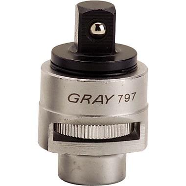 Gray Tools – Adaptateur de prise à cliquet réversible de 1/2 po, 2 1/2 po de long
