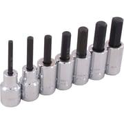 Gray Tools – Ensemble de 7 douilles à prise de 3/8 po, métrique de longueur standard, tête hexagonale, 4 mm à 10 mm