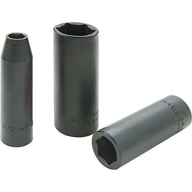 Gray Tools – Douilles à prise 11/16 po x 3/8 po, 6 pans profondes, fini noir résistant aux chocs