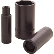 Gray Tools 6 Point Deep Length, Black Impact Sockets, Drive size: 1/2""
