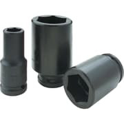 Gray Tools 6 Point Deep Length, Black Impact Sockets