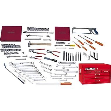 Gray Tools – Ensemble de départ de 132 pièces SAE et métriques, avec coffre sur table