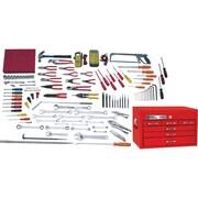 Gray Tools – Ensemble maître d'électricien de 114 pièces SAE, avec coffre sur table