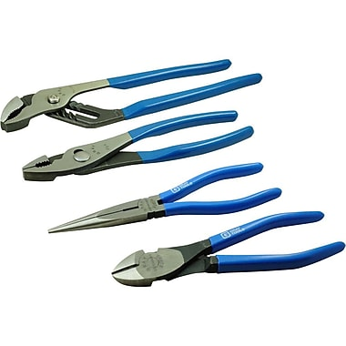 Gray Tools 4 Piece Plier Set